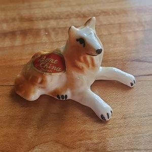 "VINTAGE ROUGH COLLIE""LASSIE""BONE CHINA COLLECTABLE"